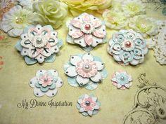 Teresa Collins dulce tarde flores de papel por mydivineinspiration