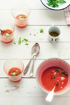 Chilled watermelon, tomato & almond soup (Serves 4 to 6) Ingredients ...