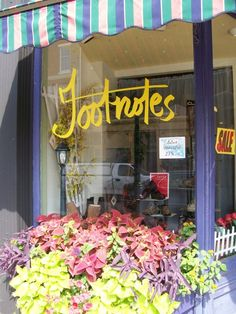 Footnotes in downtown Portsmouth New Hampshire