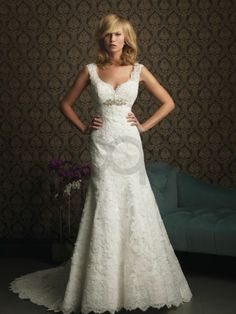 Mermaid Satin Ruched Bodice Sculpted Neckline Sweep Train Wedding Dresses (8770)