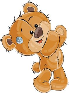 Bear Clipart, Cute Clipart, Brown Teddy Bear, Cute Teddy Bears, Tatty Teddy, Pictures To Draw, Cute Pictures, Blue Nose Friends, Cartoon Sketches