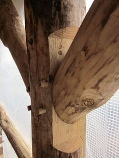 round wood timberframe - Google Search
