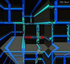 https://flic.kr/p/vhXmog | Espaço tridimensional com barras em azul