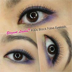 Elegant Lashes #006 Black Premium 100% Natural Human Hair False Eyelashes