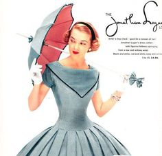 Jonathan Logan-A Classic Vintage Dress Label - The Vintage Inn Vintage Fashion 1950s, Fifties Fashion, Mode Vintage, Retro Fashion, Vintage Stuff, Vintage Inspired Dresses, Vintage Dresses, Vintage Outfits, 1950s Dresses