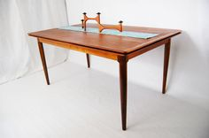 Danish Teak Dining Table with Two Draw Leaf Extensions by Skovmand and Andersen $1,675.00 USD