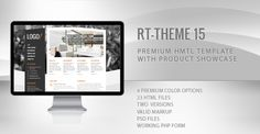 RT-Theme 15 Premium HTML Template . RT-Theme 15 is a business html template with four colors and two versions. You can use it for business, corporate, product catalogue, services or portfolio web
