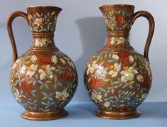 Rare Antique SCHOENAU BROS  JUGS  1880-1920 GERMANY  #DecorativeJugs