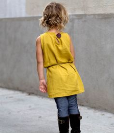 Go To Shift Dress sewing pattern for girls by Go To Patterns | 12mo-12yrs