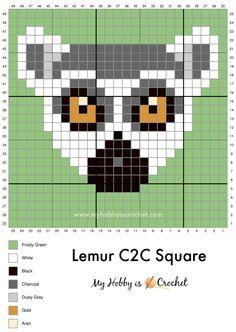 Crochet C2c Pattern, Free Crochet, Pixel Crochet, Cross Stitching, Cross Stitch Embroidery, Cross Stitch Patterns, Manta Animal, Pixel Art, Art Perle