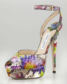 Spring 2013 - Lola Floral Python Platform Pump by Jimmy Choo at Neiman Marcus.