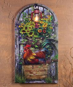 Another great find on #zulily! Rooster Lighted Wrapped Canvas #zulilyfinds