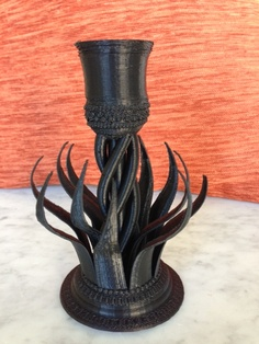 Fire prints well in #3D on the Cube printer #design