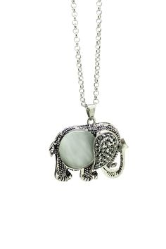 Stone Elephant Pendant Necklace by Eye Candy Los Angeles on @nordstrom_rack
