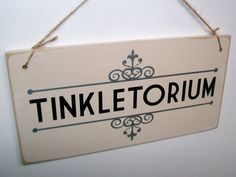Tinkletorium shabby chic funny toilet sign. ( shabby chic bathroom sign , bathroom decor, cottage chic, funny sign, housewarming gift )