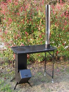 Discover thousands of images about Resultado de imagen para rocket stove and grill Rocket Stove Design, Diy Rocket Stove, Rocket Heater, Rocket Stoves, Outdoor Stove, Diy Outdoor Kitchen, Diy Wood Stove, Stoves Cookers, Stove Heater