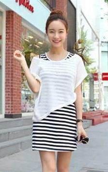 Summer Trendy Cute Stripe Casual Dress