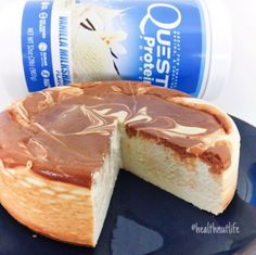 Ripped Recipes - Chocolate Chip Cookie Dough Swirl Cheesecake  - A high protein cheesecake with a chocolate chip cookie dough swirl.
