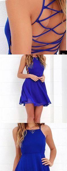 chiffon evening  dress,short party dress,simple dress,440
