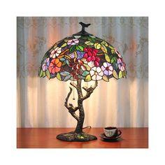テーブルランプ ステンドグラスランプ 卓上照明 ティファニーライト 2灯 D40cm