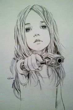 drawing of kid holding a gun - Google Search