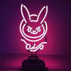 Nerf This!  The D.Va neon light from overwatch makes any gaming setup standout - let your geek flag fly!