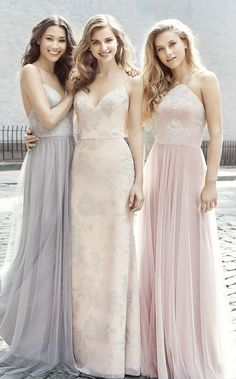 Lace Look Bridesmaid Dresses by Hayley Paige Occasions