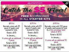 January is the month to join our Paparazzi Team!! You get extra FREE jewelry this month only! Invest in your future, make it a hobby, or make it your business like me. Stop living pay check o pay check and have fun hosting parties or just selling to your friends and family. Any way you run this bussiness of yours you still win either way. Happy New Year Earn 45% commission www.paparazzi accessories.com/121740