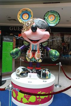 Futuristic Mickey by The One Academy at the 'Mickey Mouse Through the yEars' exhibition at Mid Valley Megamall, KL