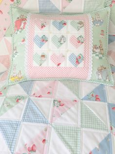 Sewing Quilts Carried Away Quilting projects for the Bunnies Quilt Baby, Cot Quilt, Baby Quilt Patterns, Baby Girl Quilts, Girls Quilts, Baby Quilt Tutorials, Easy Quilts, Mini Quilts, Children's Quilts