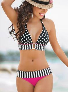 59e47f1dc 2 Piece/Set Swimwear Womens Bikini Set Bandage Push-Up Padded Swimsuit  Beachwear