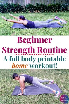 Full Body Beginner Strength Training Workout to Do at Home –
