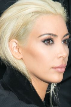 How To Go Platinum Blonde, According To Kim Kardashian's Colorist