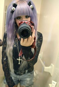 .that purple hair though