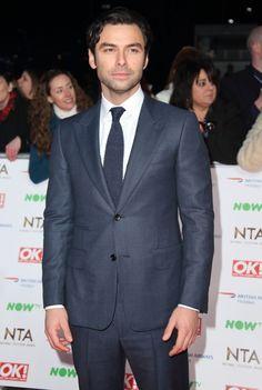 Aidan Turner is Dapper in Navy Dunhill at 2016 British National Television Awards