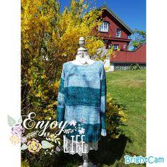 Elisabeth.H hobbyside: Grønn spettet genser