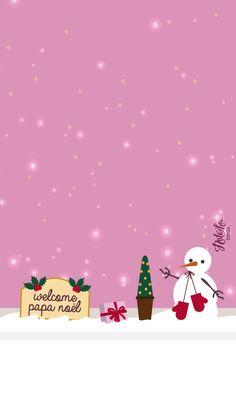 Si vous n'aimez pas Noël je vous conseille de fuir le blog pendant un petit mois pendant lequel flocons de neige et bonnets du Père Noël risquent d'être bien souvent de la partie ! Je suis une amoureuse de cette fête et j'avais très hâte d'être en décembre pour rentrer dans cette jolie période annuelle … Noel Christmas, Pink Christmas, All Things Christmas, Winter Christmas, Christmas Crafts, Xmas, Cute Christmas Wallpaper, Holiday Wallpaper, Winter Wallpaper