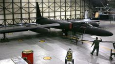 U-2 spy plane defense cuts:  A U-2 spy plane at Osan air base, south of Seoul, South Korea, in July 2005.