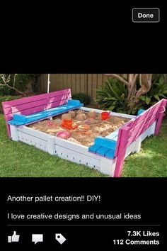 Cute Idea for a Sand box.. My next project!