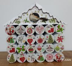 Cartonnage - Calendrier de l'avent Christmas Baking, Christmas Diy, Christmas Decorations, Holiday Decor, Xmas Crafts, Diy And Crafts, Paper Crafts, Baking Party, Diy Projects To Try