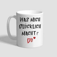 Tasse – Was Mich Glücklich Macht? Du Andreas, Mugs, Tableware, Gifts, Dinnerware, Cups, Mug, Dishes, Place Settings