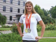 Wereldkampioene Dafne Schippers schittert op 100 meter tijdens Flame Games Amsterdam