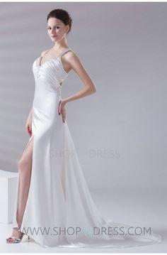 white prom dress #white #women #prom #formal #sexy #popular
