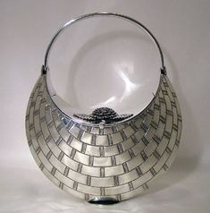 Kenneth Begay silver evening bag, ca. 1960s.