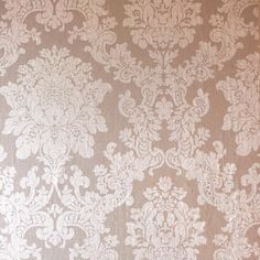 Arthouse Rose Gold Damask Charcoal Grey Heavy Textured Vinyl Feature Wallpaper