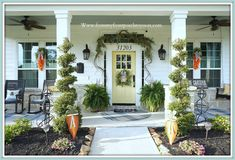 Cottage Farmhouse Easter Front Porch Decor-From My Front Porch To Yours