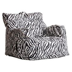 Bon Big Joe Dorm Bean Bag Chair   Zebra   0645182