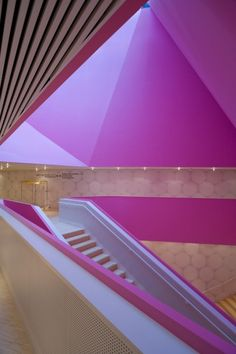 Vibrant urban space and the creativity of a pink staircase at Theatre Agora / UNStudio.
