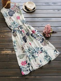 SHARE & Get it FREE | Sleeveless Drawstring Floral Midi Dress - FloralFor Fashion Lovers only:80,000+ Items • New Arrivals Daily Join Zaful: Get YOUR $50 NOW!