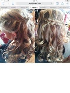 Flower girl hair. Down with loose curls